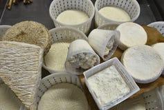 Assortment of italian fresh cheeses Royalty Free Stock Photo