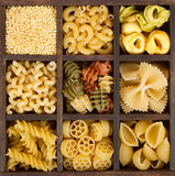 An assortment of italian pasta Stock Photography