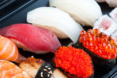 Assortment of Japanese Sushi Royalty Free Stock Image