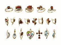 Assortment of Jewel stock image