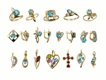 Assortment of Jewel. Saphires Royalty Free Stock Photo
