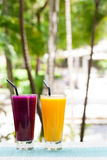 Assortment juices, smoothies, beverages, drinks variety Stock Photography