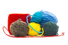 Assortment of knitting yarns Stock Images