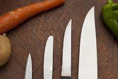Assortment of Knives Stock Photo