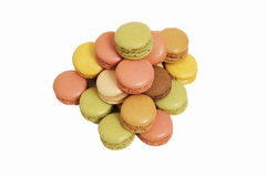 Assortment of macaroons isolated Royalty Free Stock Photography