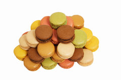 Assortment of macaroons isolated Stock Images