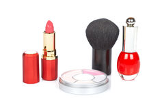 Assortment of makeups Royalty Free Stock Photos