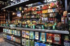 Assortment of marinated olives in Sarona Gastro Market, Tel Aviv Stock Photos