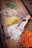 Assortment of mature cereals Royalty Free Stock Images