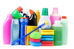 Assortment of means for cleaning Stock Photography