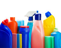 Assortment of means for cleaning Royalty Free Stock Image