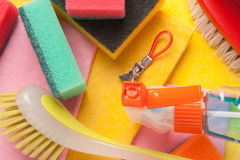Assortment of means for cleaning and washing Royalty Free Stock Image
