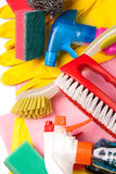 Assortment of means for cleaning and washing Royalty Free Stock Images