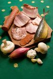 Assortment of meat appetizers Royalty Free Stock Photography
