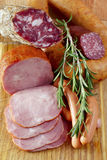 Assortment of meat production Royalty Free Stock Image
