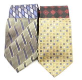 Assortment of men's ties. An assortment of men's ties neatly displayed on white Stock Images