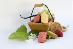 Assortment of mini cakes Stock Image