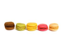 Assortment of multicolored macaroon cookies Stock Photo