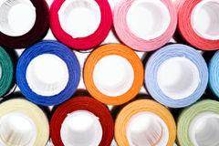 Assortment of multicoloured threads Royalty Free Stock Photos