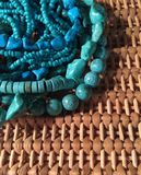 Assortment of Natural Turquoise Gemstone Beads Stock Photos