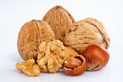 Assortment of nuts Royalty Free Stock Images