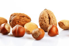 Assortment of nuts Stock Photos