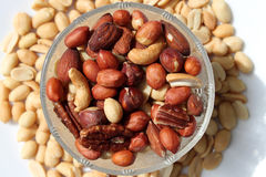 Assortment of nuts Royalty Free Stock Photos