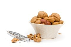 Assortment of nuts Royalty Free Stock Photography