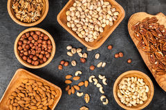 Assortment of nuts Royalty Free Stock Image