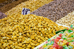 Assortment of nuts in Morocco Royalty Free Stock Photos