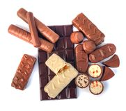 Free Assortment Of Chocolates On A White Background Royalty Free Stock Photography - 135013597