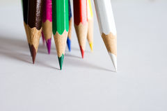 Assortment Of Colored Pencils Royalty Free Stock Photos