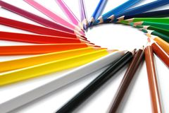Assortment Of Colored Pencils Royalty Free Stock Image