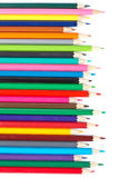 Assortment Of Coloured Pencils Stock Photos