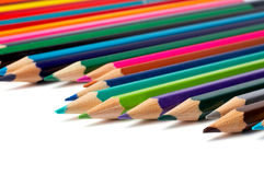 Assortment Of Coloured Pencils Royalty Free Stock Image