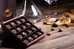 Free Assortment Of Fine Chocolate Candies, White, Dark, And Milk Chocolate Stock Photos - 161265283