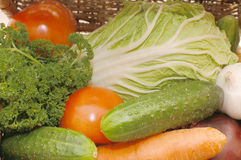 Assortment Of Fresh Vegetables On Box Royalty Free Stock Images