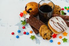 Free Assortment Of Products With High Sugar Level Stock Photo - 99639380