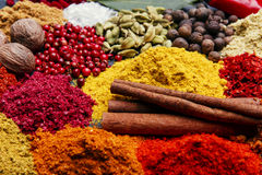 Free Assortment Of Spices Seasoning On A Black Stone Royalty Free Stock Photography - 64522987