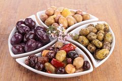 Assortment of olives Royalty Free Stock Image