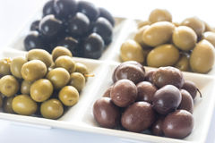 Assortment of olives Stock Photography