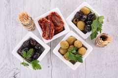 Assortment of olives Stock Photos