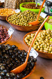 Assortment of olives on market in Provence Royalty Free Stock Image