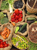 Assortment Organic food. Full of details Royalty Free Stock Photography