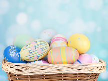 Assortment of Painted Easter Eggs Stock Photography