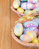 Assortment of Painted Easter Eggs Royalty Free Stock Image