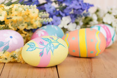 Assortment of Painted Easter Eggs Stock Photo