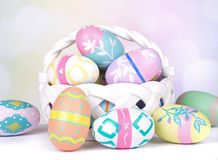 Assortment of Painted Easter Eggs Royalty Free Stock Photography