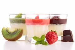 Assortment of panna cotta Royalty Free Stock Photos