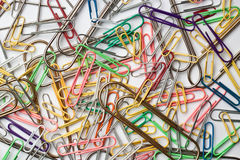 Assortment of paper clips Stock Image